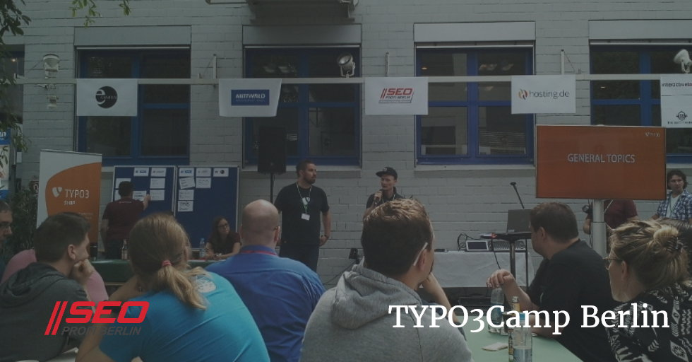 TYPO3Camp Berlin 2018 - 1.-3. Juni - sponsored by SEO Profi Berlin