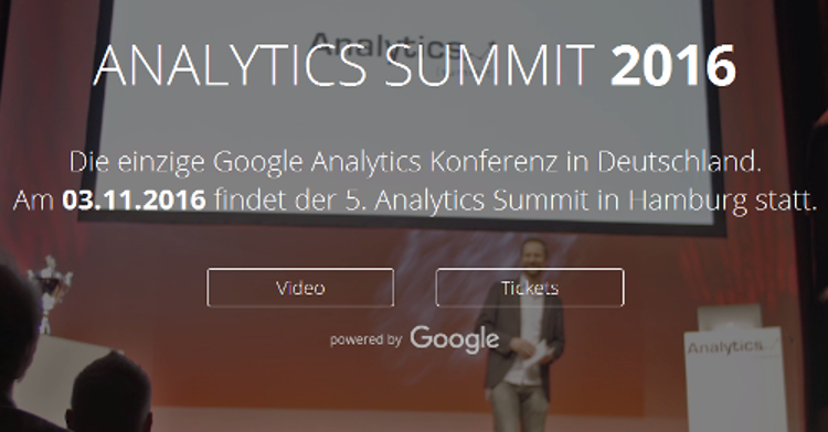 Analytics Summit 2016 in Hamburg - 3.11. - Tickets sichern