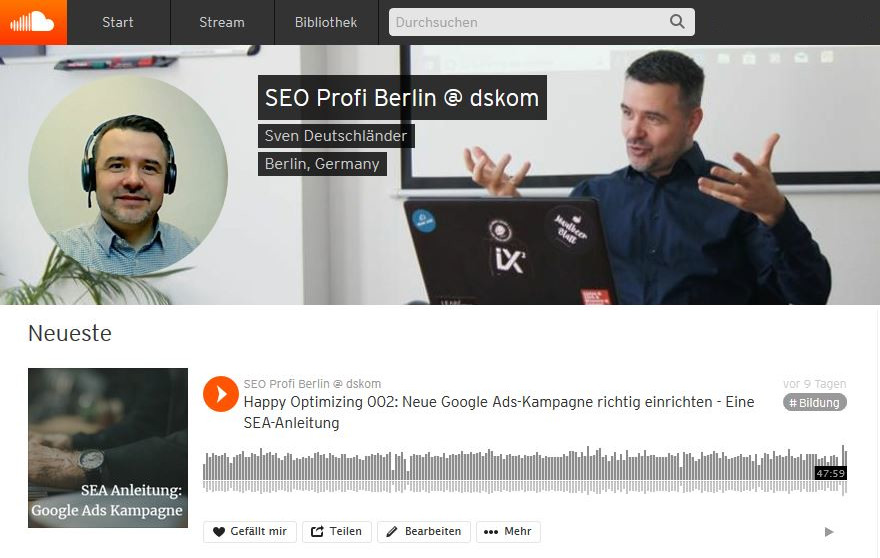 Der Podcast des SEO Profi Berlin: Happy Optimizing